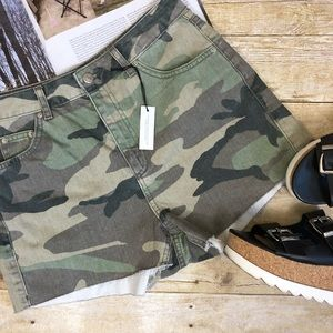 Topshop High Waist Camo Mom Shorts